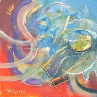 Big Bang : peinture acrylique sur toile 80 cm x 80 cm