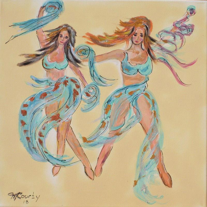 Cabaret : peinture acrylique sur toile 50 cm x 50 cm
