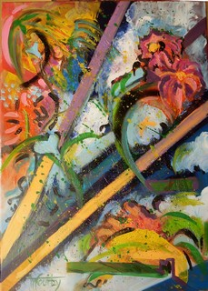 Carnaval: peinture acrylique sur toile 50 cm x 70 cm