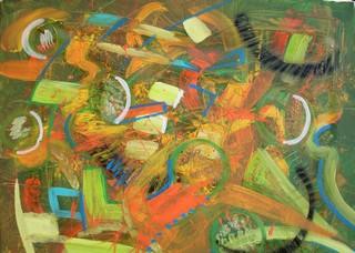 Couleurs d`Automne; peinture acrylique sur toile 65 cm x 50 cm