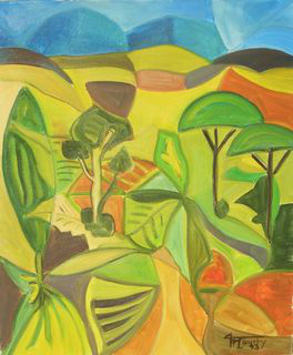 Couleurs du Languedoc : peintureà l`huile sur toile