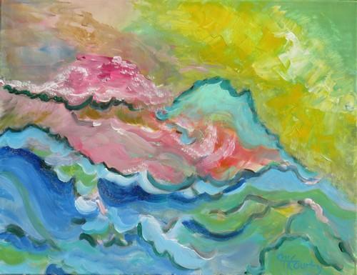 Déferlante : peinture acrylique sur toile 65 cm x 50 cm