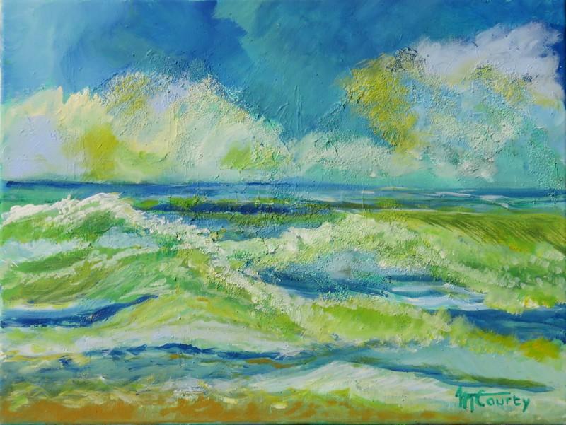 Ecume : peinture acrylique sur toile 61 x 46 cm