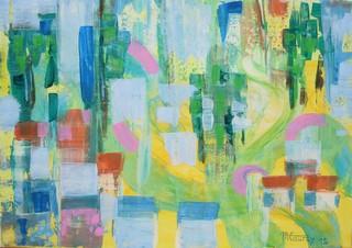 été : peinture acrylique sur toile 70 cm x 50 cm