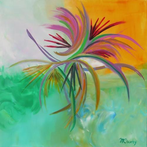 Evasion : peinture acrylique sur toile 80 cm x 80 cm