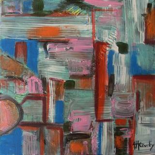 Peinture à huile et acrylique sur toile 30 x 30 cm - Mars 2013