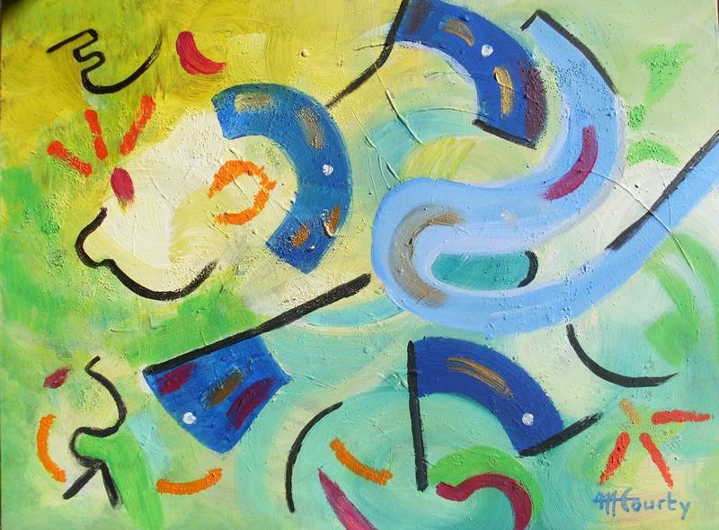 Fiesta ; peinture acrylique sur toile 61 cm x 46 cm
