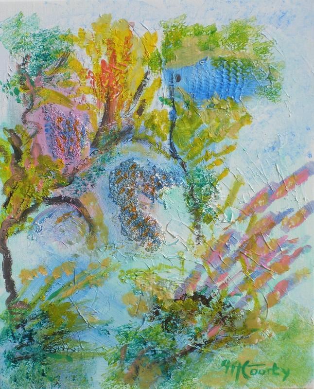 Fond marin : peinture acrylique sur toile 41 cm x 33 cm