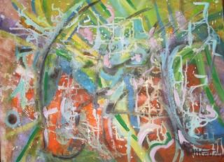 Hasard: peinture acrylique sur toile 61 cm x 46 cm