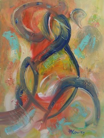 Homme abstrait : peinture acrylique sur toile 61 x 46 cm - Mai 2013