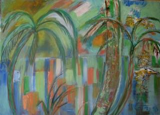 L`oasis : peinture acrylique sur toile 50 cm x 70 cm (février 2013)