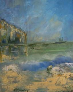 Marine normande : peinture à l`huile sur toile 46 x 38 cm - Avril 2013