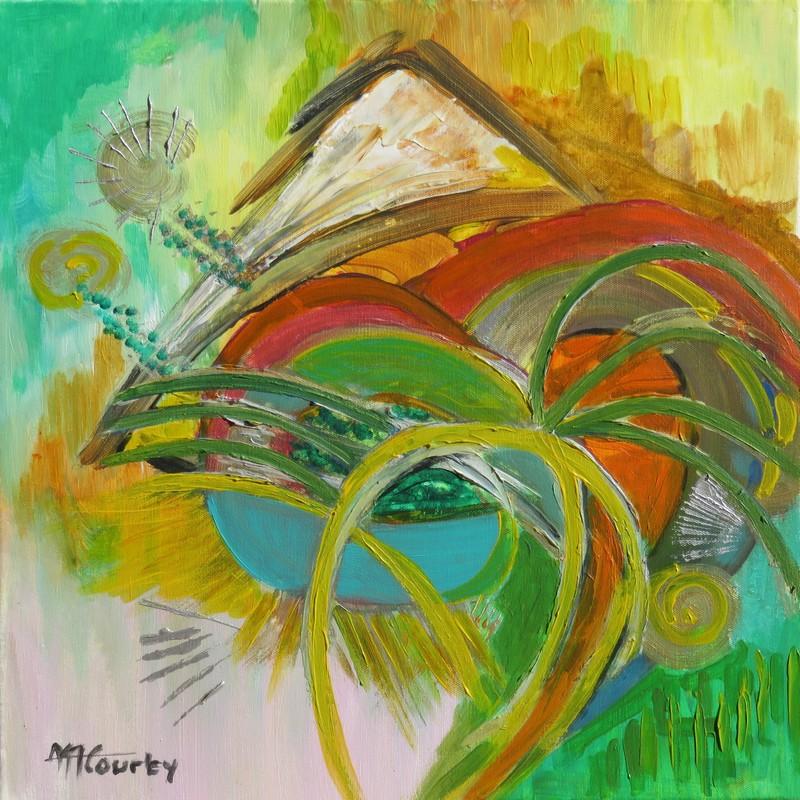 Mouvement perpétuel : peinture acrylique sur toile 50 x 50 cm