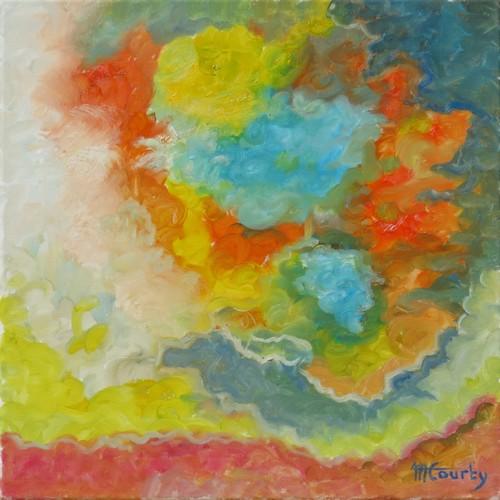 Huages : peinture à l`huile sur toile 50 x 50 cm