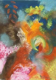 Ouragan : peinture acrylique sur toile 50cm x 70cm