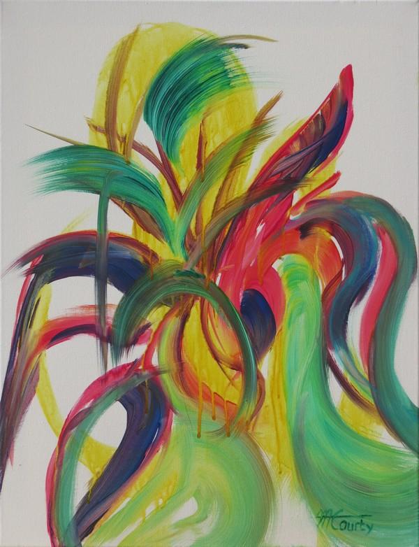 Panache : peinture acrylique sur toile 50 x 65 cm