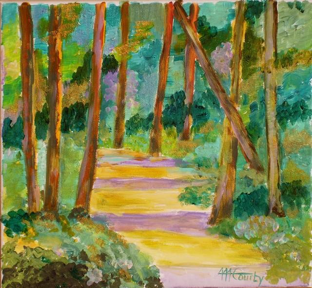 Petit bois : Peinture acrylique sur toile 40 cm x 40 cm