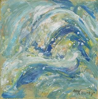 Remous : peinture acrylique sur toile 30 cm x 30 cm