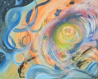 Supernova: peinture acrylique sur toile 73 cm x 60 cm