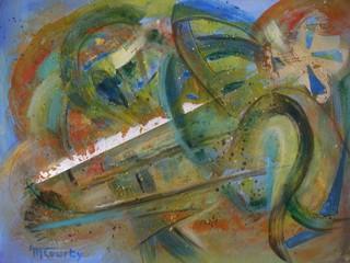 Tourbillons : peinture acrylique sur toile 61 cm x 46 cm - Avril 2013