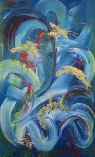Turbulence : peinture acrylique sur toile 38 cm x 61 cm