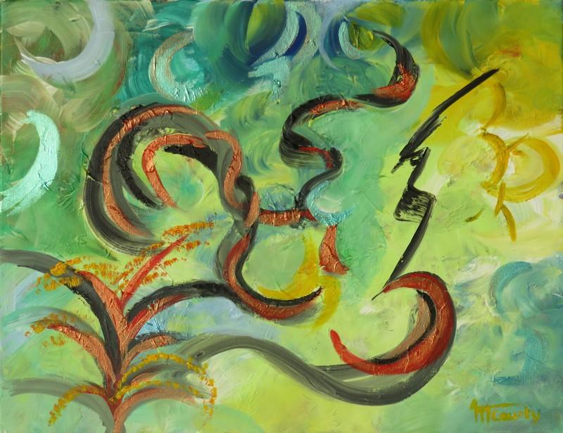 Eclair : peinture acrylique sur toile 65 cm x 50 cm