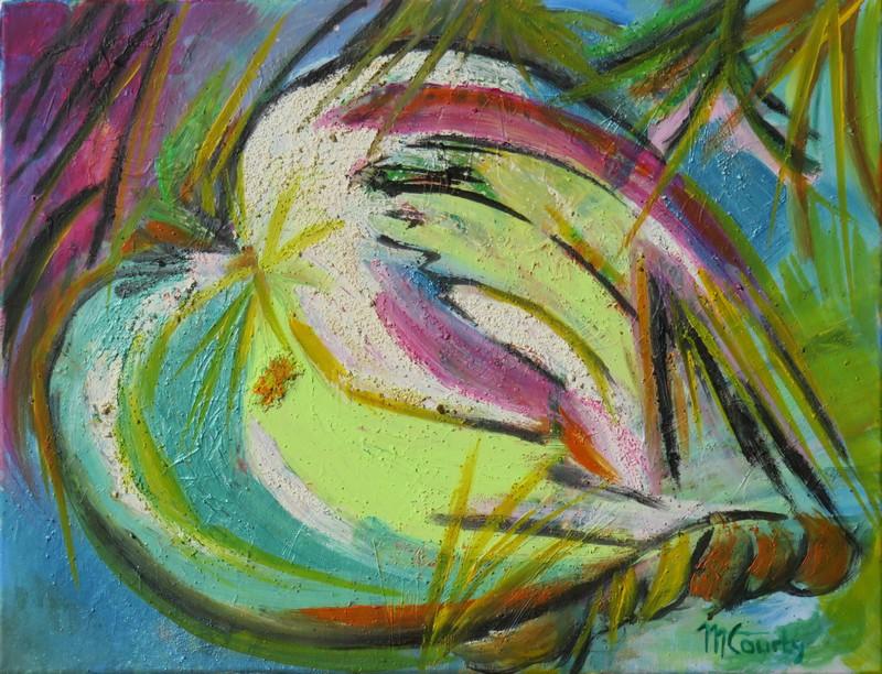Fruit : peinture acrylique sur toile 65 cm x 50 cm